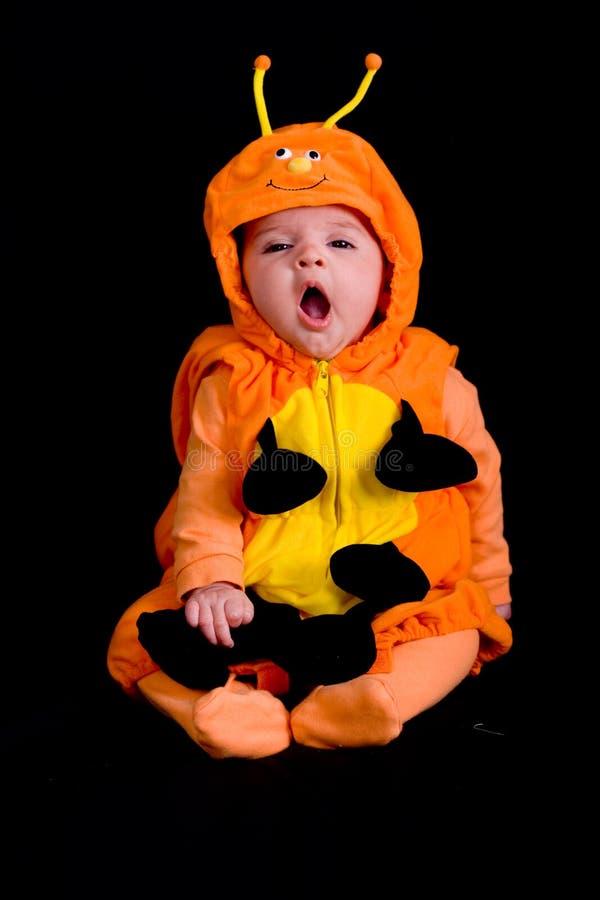 Bebê no traje de Halloween fotografia de stock royalty free