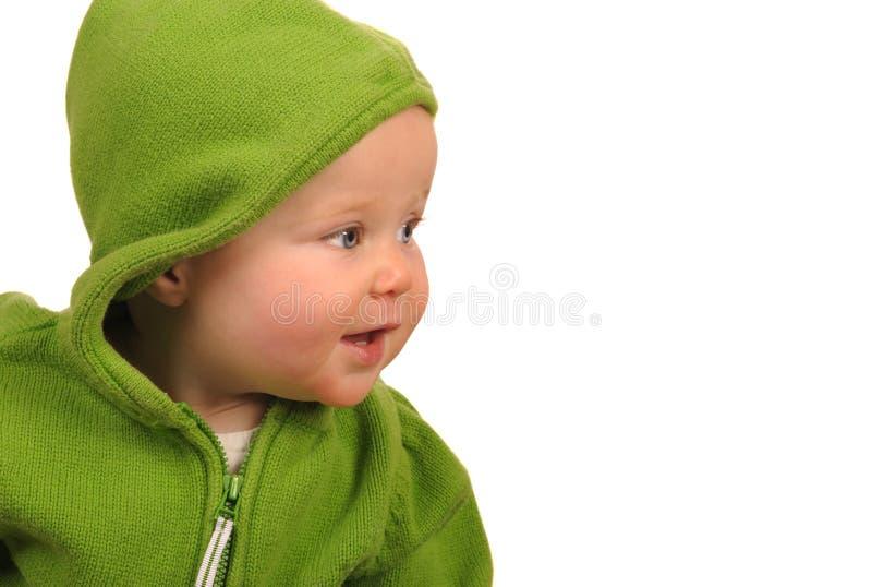 Bebê no verde fotos de stock