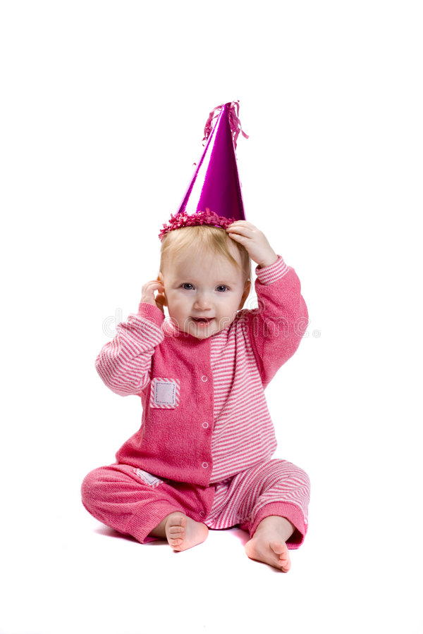 Bebê no vestido extravagante fotos de stock royalty free
