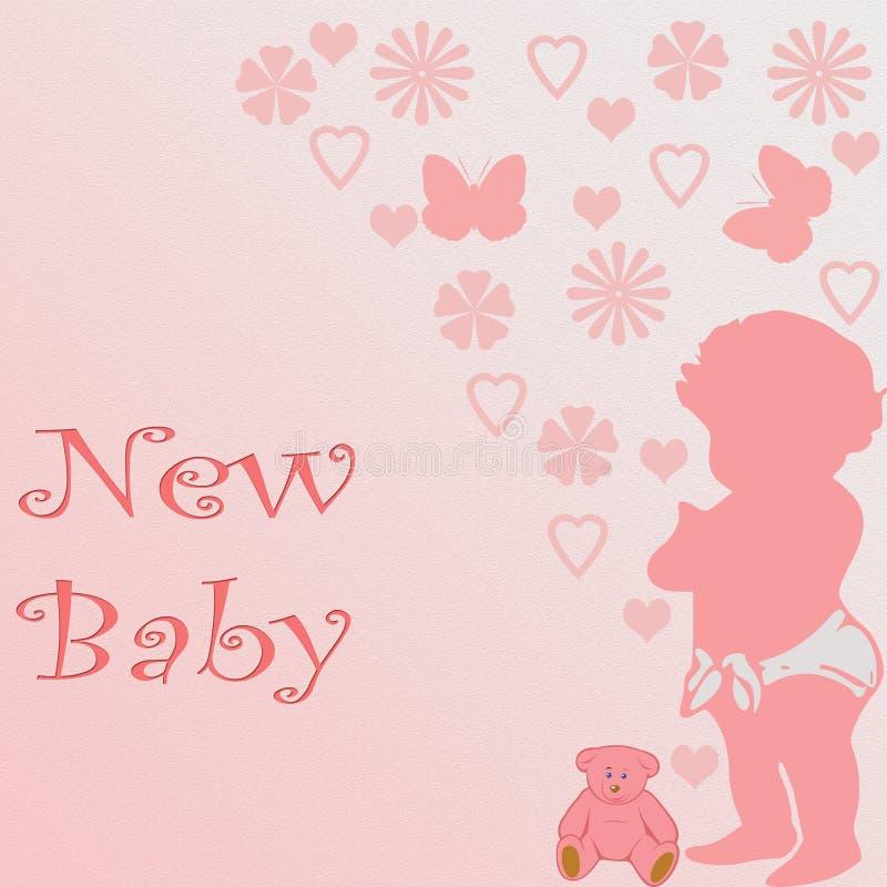 Bebê novo ilustração royalty free