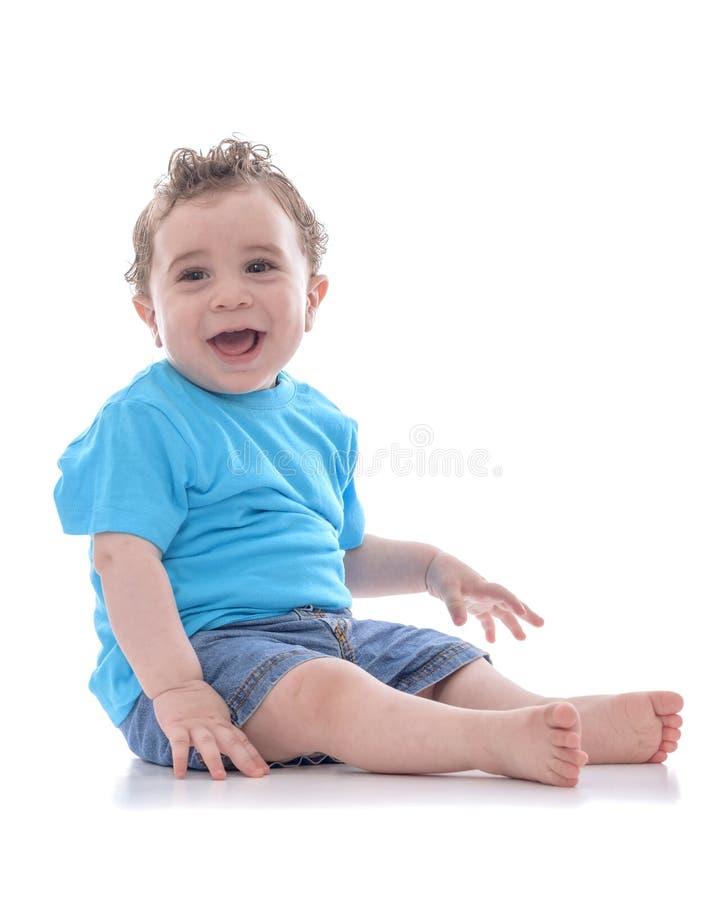 Bebê novo feliz fotografia de stock