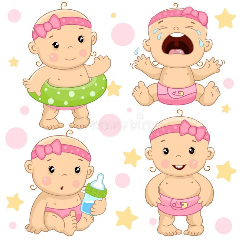 Bebê 4 porções ilustração royalty free
