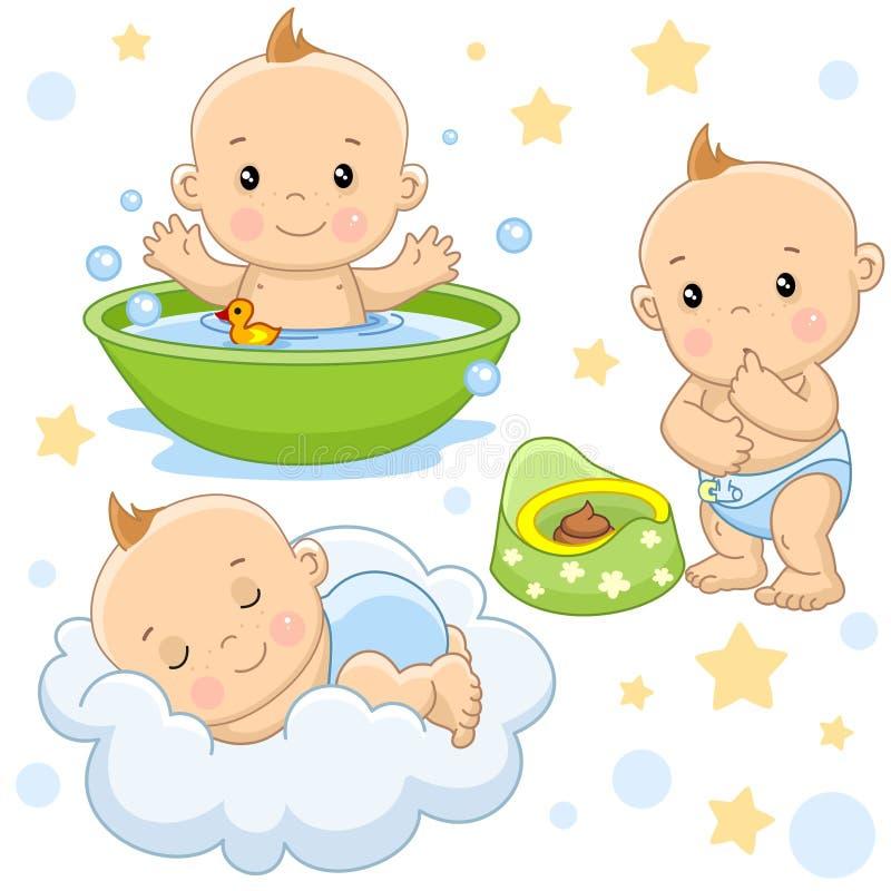 Bebê 4 porções ilustração do vetor