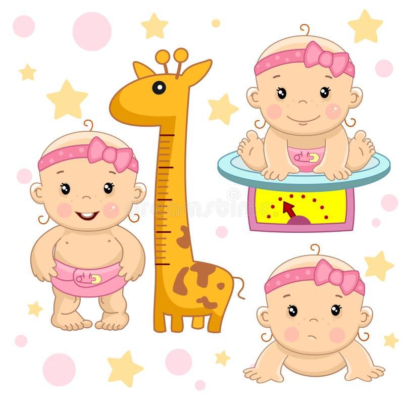 Bebê 5 porções ilustração royalty free