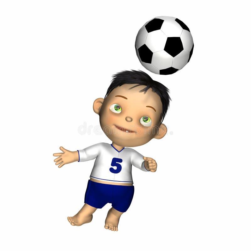 Bebê - primeira esfera de futebol ilustração stock