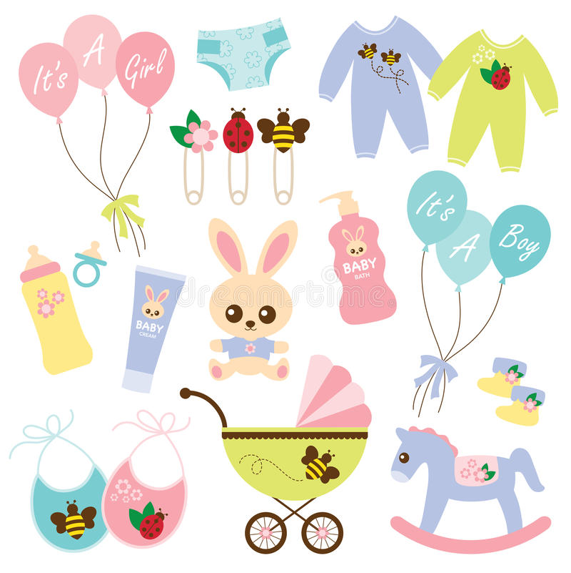 Bebê Products3 ilustração do vetor