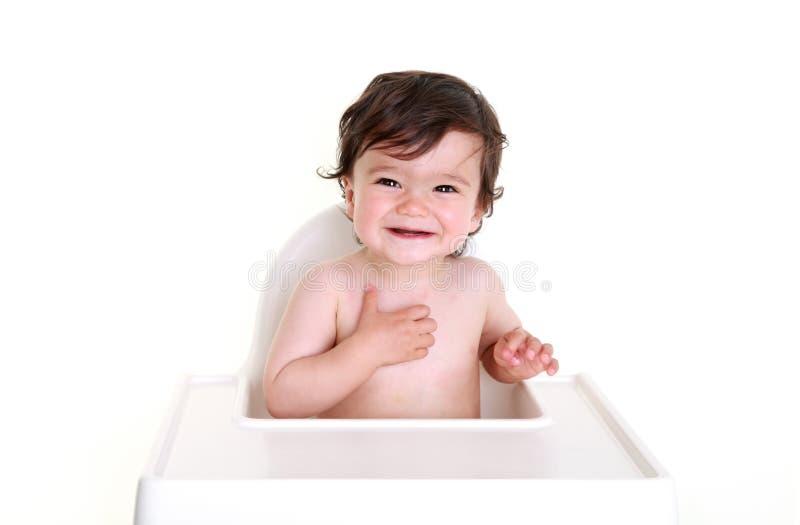 Bebê que ri - lindo! imagem de stock royalty free