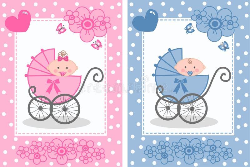 Bebê recém-nascido ilustração do vetor