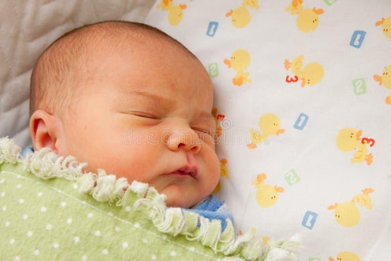 Bebê recém-nascido de sono fotografia de stock royalty free
