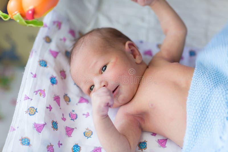 Bebê recém-nascido, 3 dias velho fotografia de stock