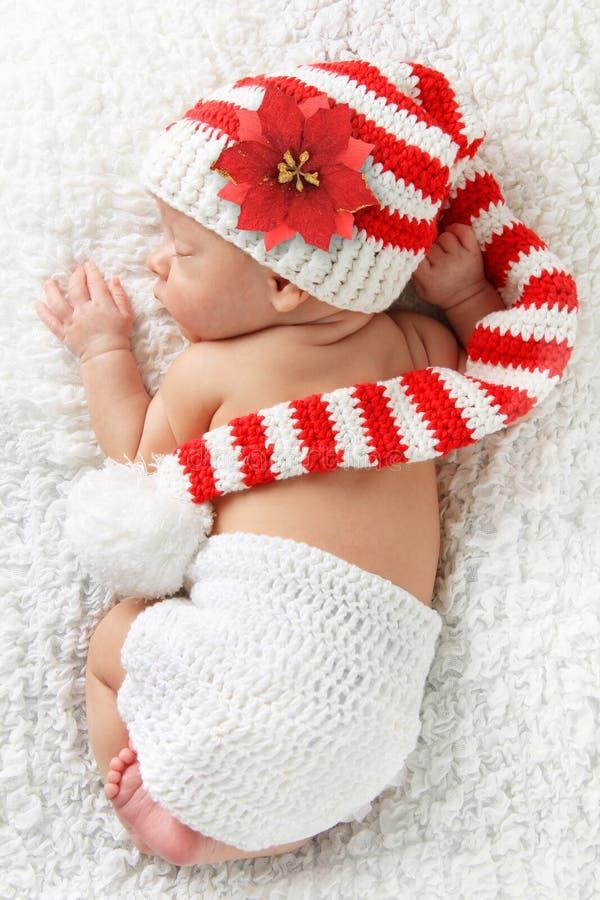 Bebê recém-nascido do Natal foto de stock