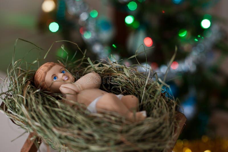 Bebê recém-nascido Jesus Christ imagens de stock royalty free