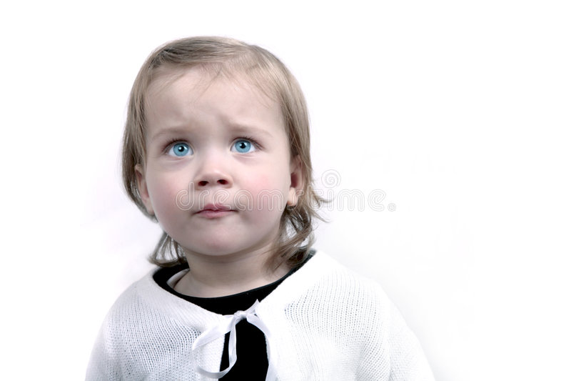 Bebê Scared imagens de stock royalty free