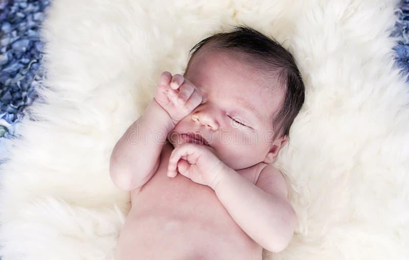 Bebê sonolento fotografia de stock