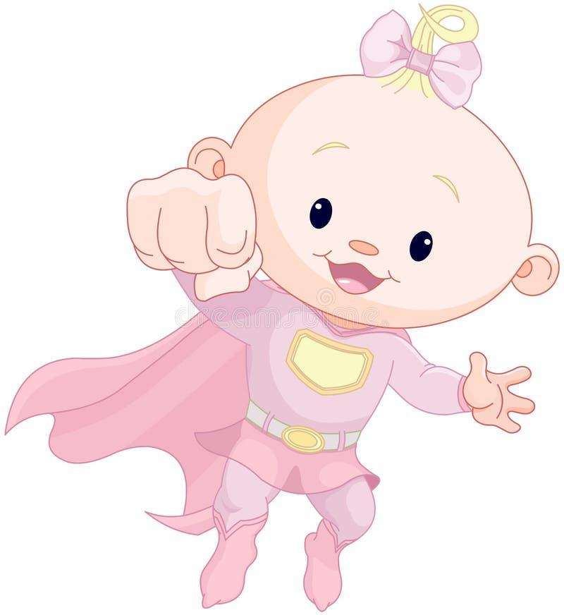 Bebê super ilustração stock