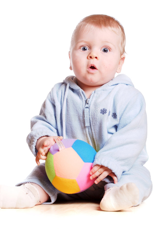 Bebê surpreendido fotografia de stock royalty free
