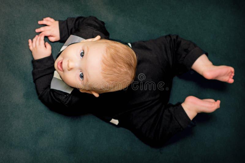 Bebê surpreendido foto de stock