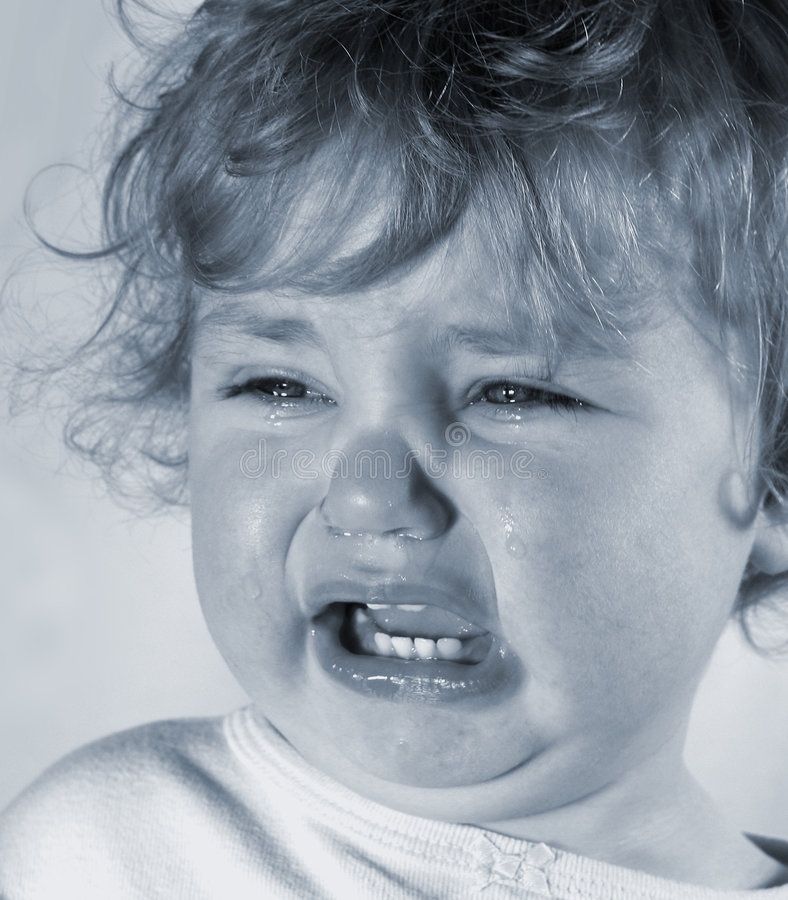 Bebê triste fotos de stock