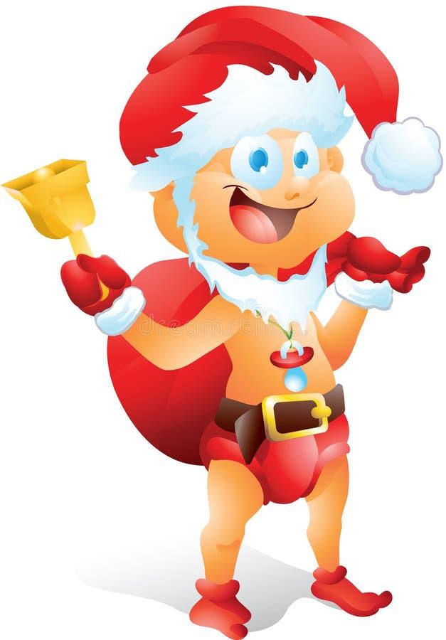 Bebê vestido como Santa Claus ilustração do vetor