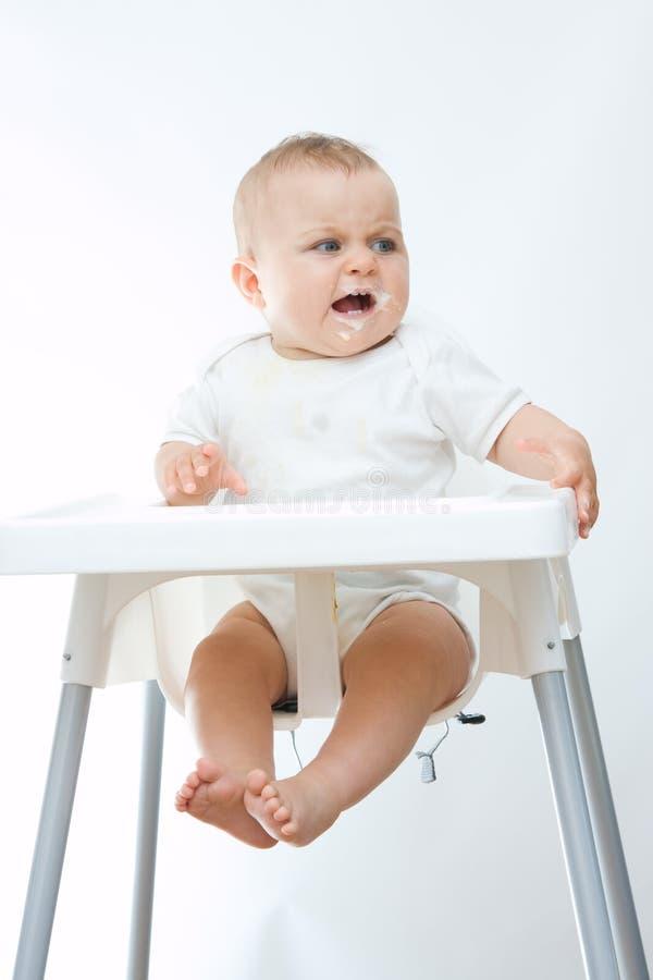 Bebê virado fotografia de stock royalty free