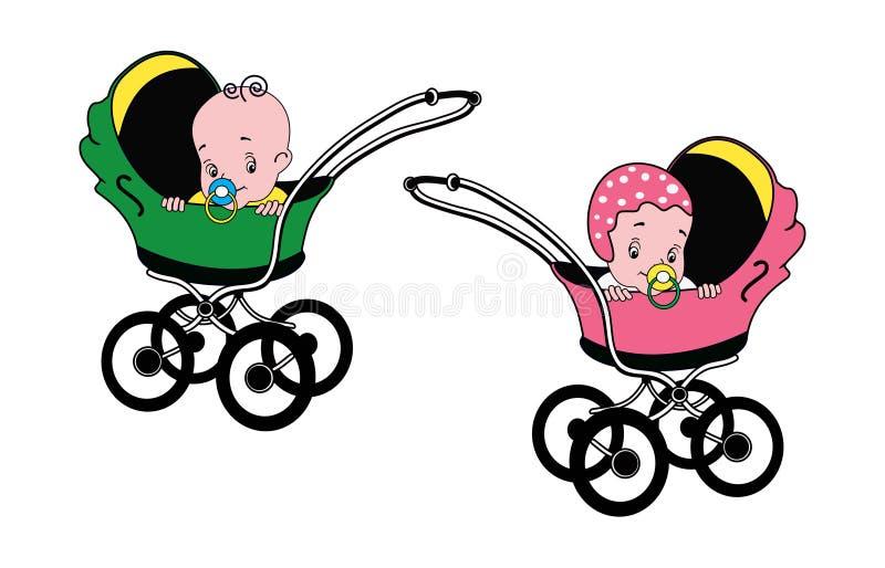 Bebês ilustração stock