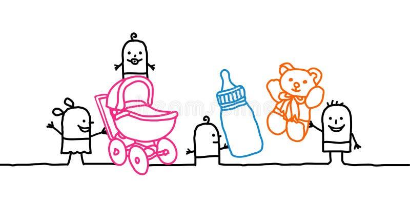 Bebês & berçário ilustração stock