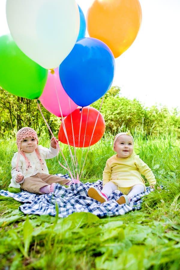 Bebês de Baloon foto de stock royalty free