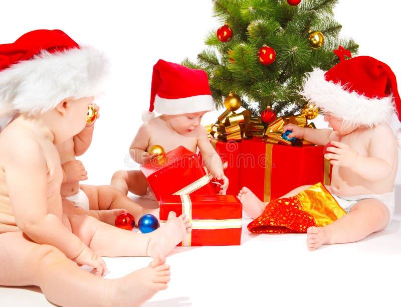 Bebês de Santa foto de stock royalty free
