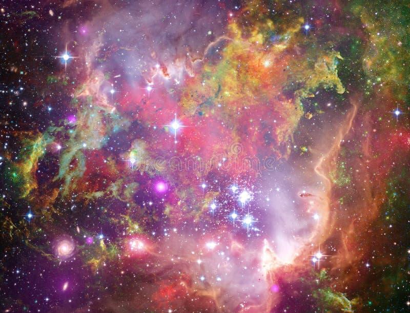Bebês grandes em Rosette Nebula ilustração stock