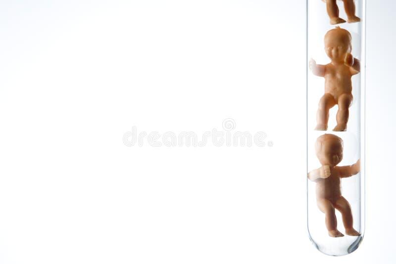 Bebês plásticos em uma câmara de ar de teste foto de stock royalty free