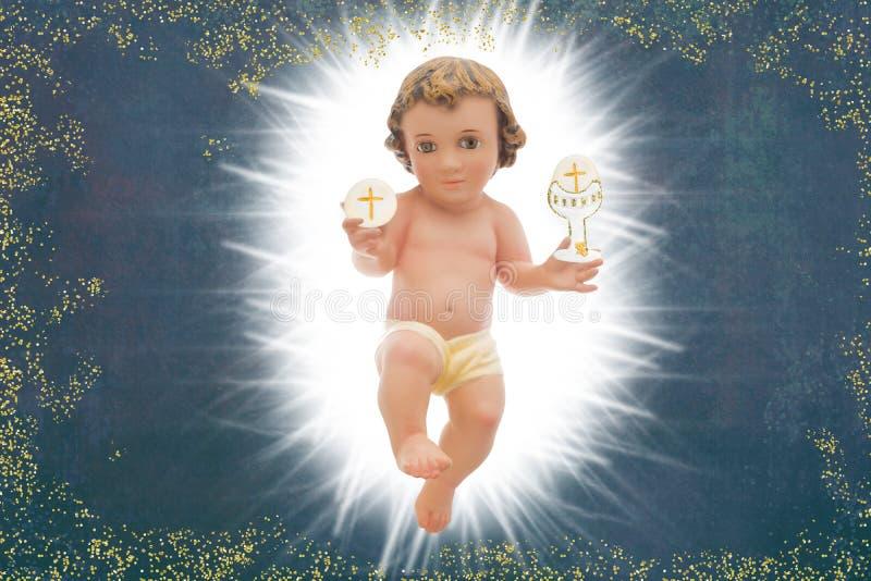Beb? Jesus, primeiro fundo do comunh?o santamente imagem de stock royalty free
