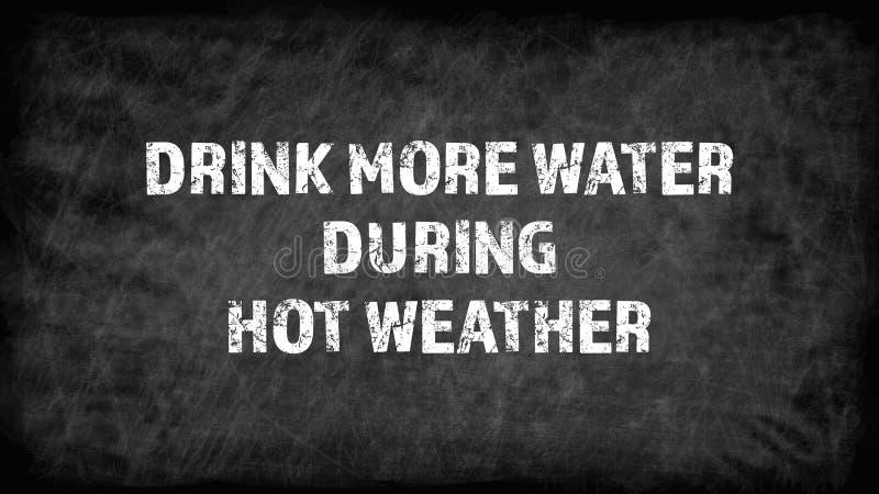 Beba mais ?gua durante o tempo quente ilustração stock
