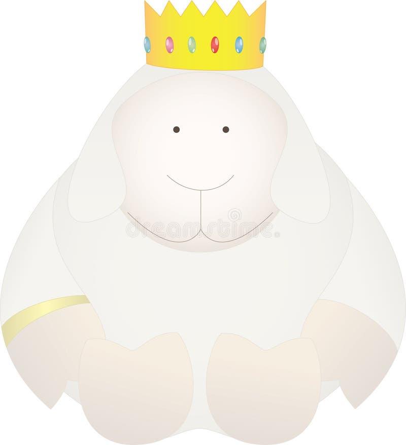 bebe女王/王后sheeps 库存照片