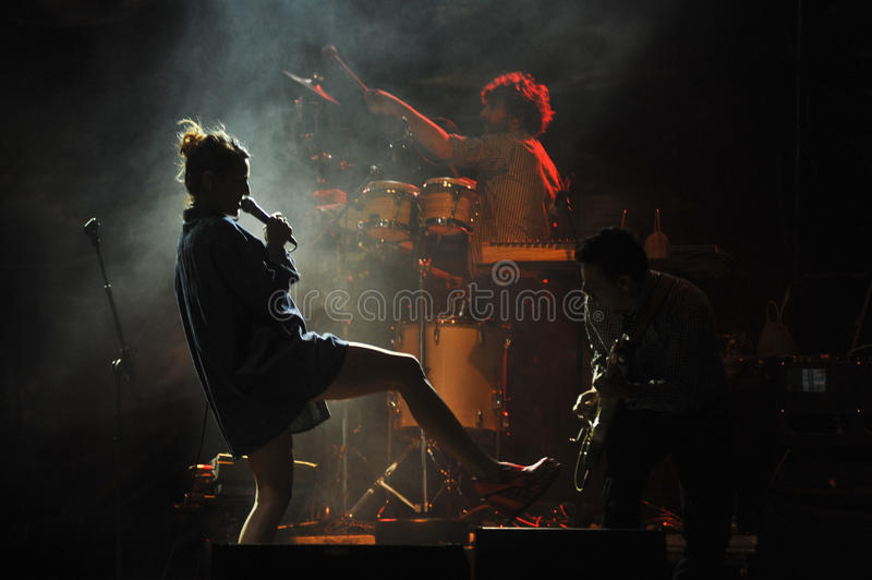 Bebe in concert royalty free stock photography
