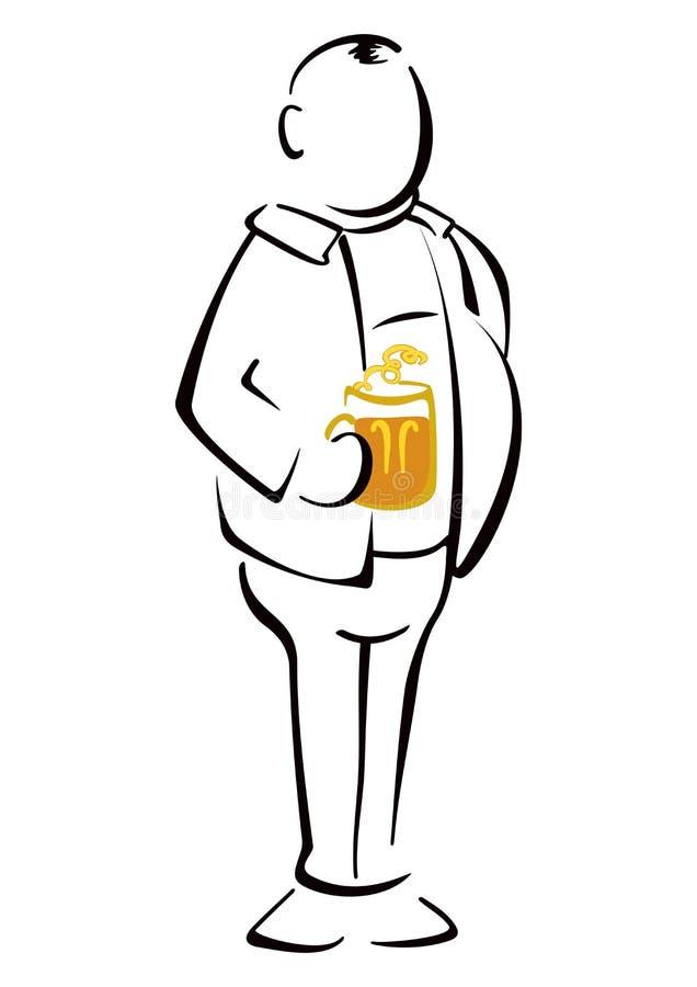 Bebedor de cerveza stock de ilustración