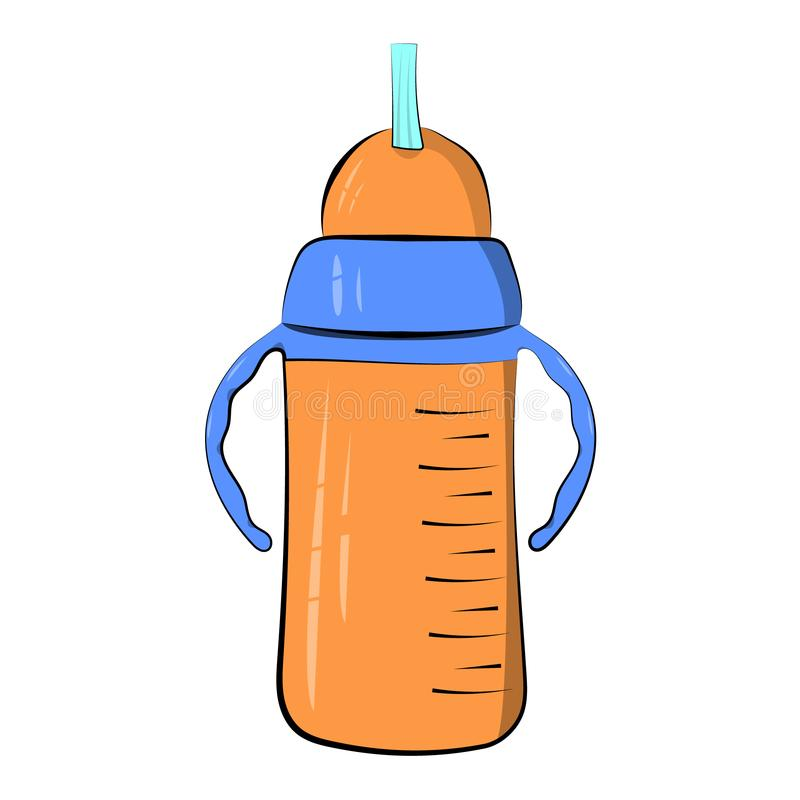 Bebedor de la taza para un niño Aislado en un fondo blanco Ilustración del vector icono stock de ilustración
