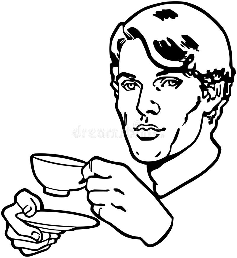 Bebedor del té stock de ilustración