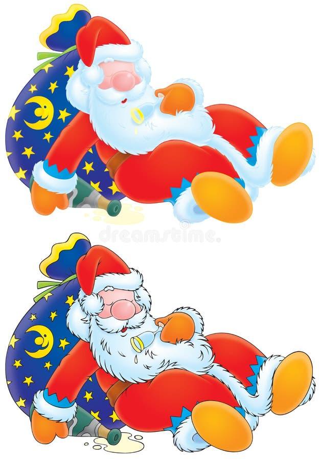 Beben a Papá Noel levemente ilustración del vector