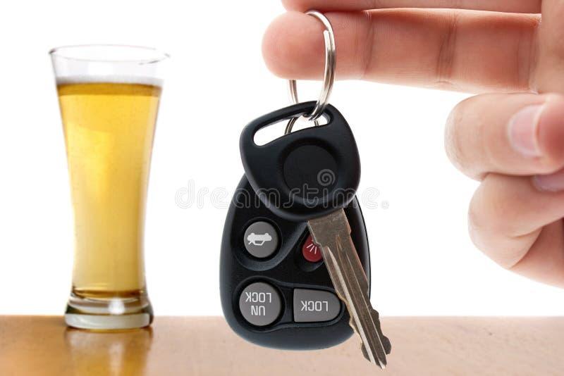 Beber e conduzir imagens de stock