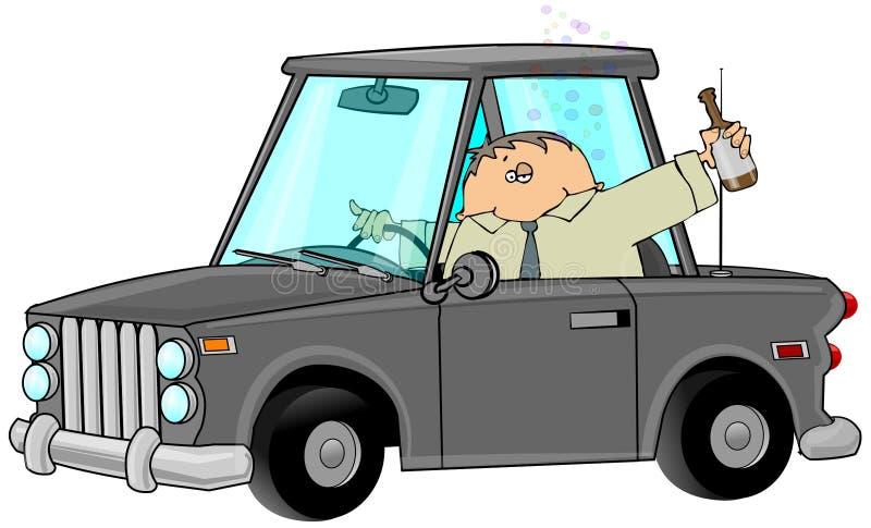 Beber e conduzir ilustração stock