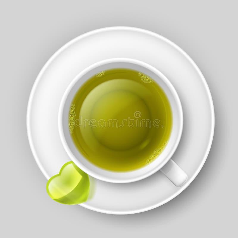 Beber romântico do chá ilustração royalty free