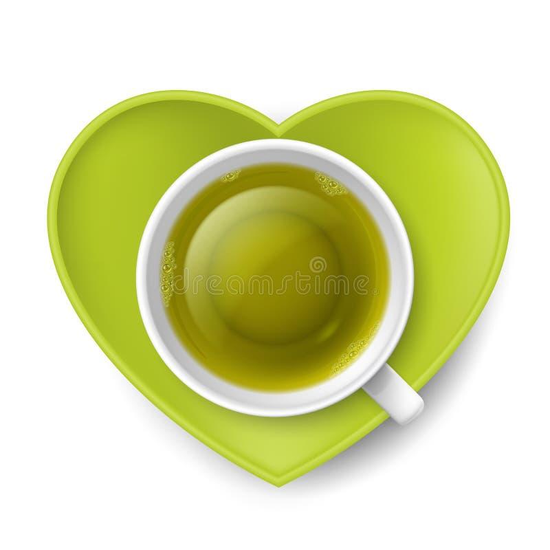 Beber romântico do chá ilustração stock