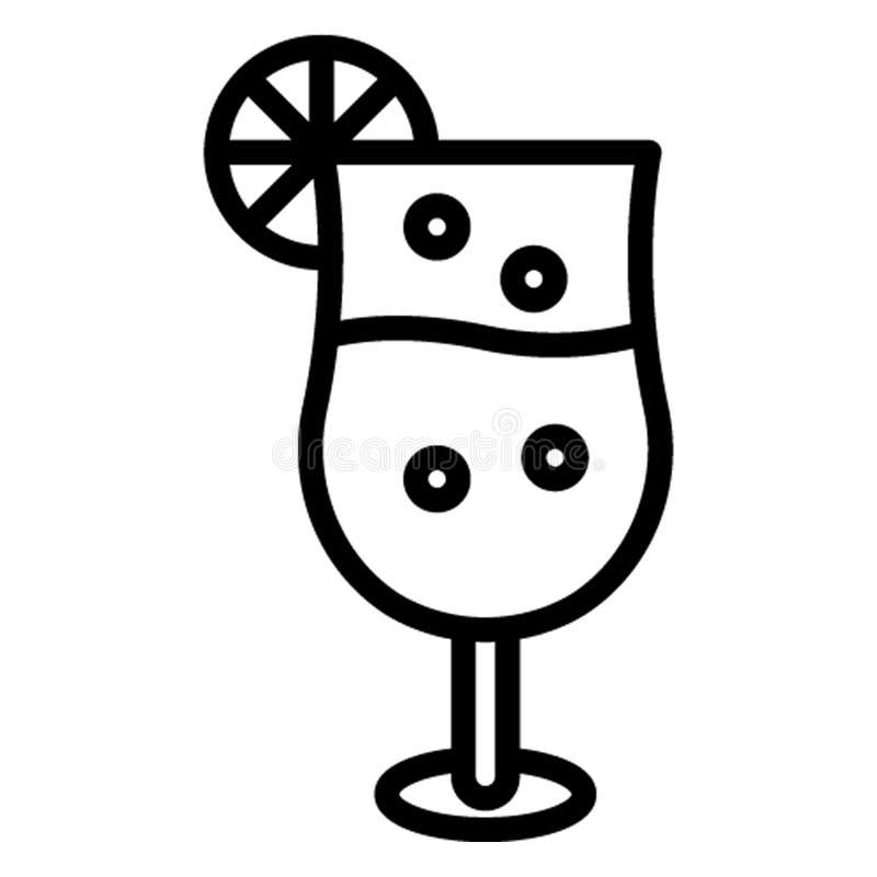 Bebida, ícone do vetor do suco do citrino que pode facilmente editar ilustração royalty free