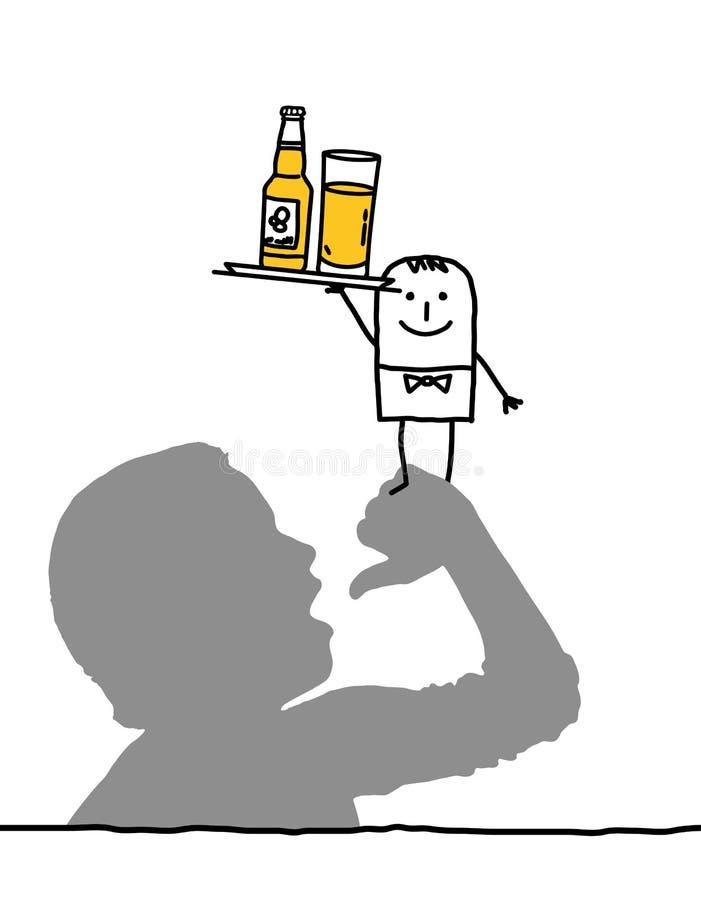 Bebida & sedento ilustração do vetor