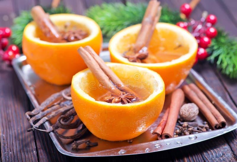 Bebida anaranjada foto de archivo libre de regalías