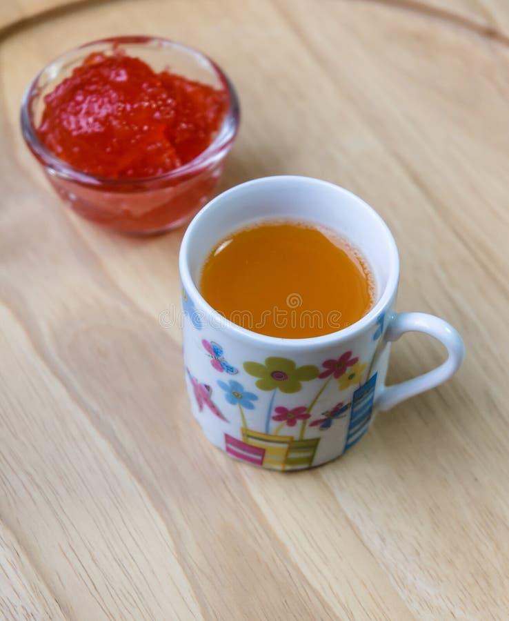 Bebida anaranjada del agua foto de archivo libre de regalías