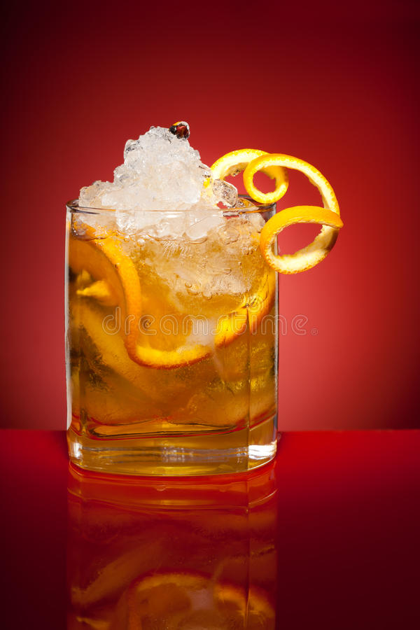 Bebida Anaranjada Del Refresco Imagen de archivo