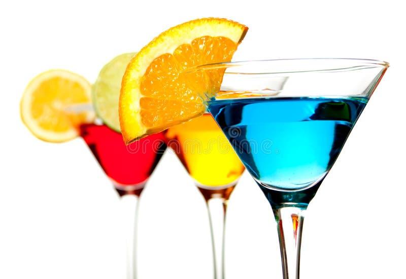 Bebida azul do cocktail imagens de stock
