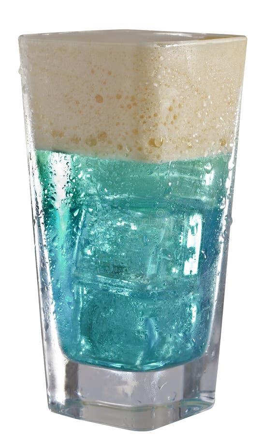 Bebida azul energética fotografia de stock