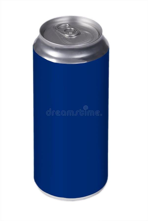 A bebida azul pode imagens de stock